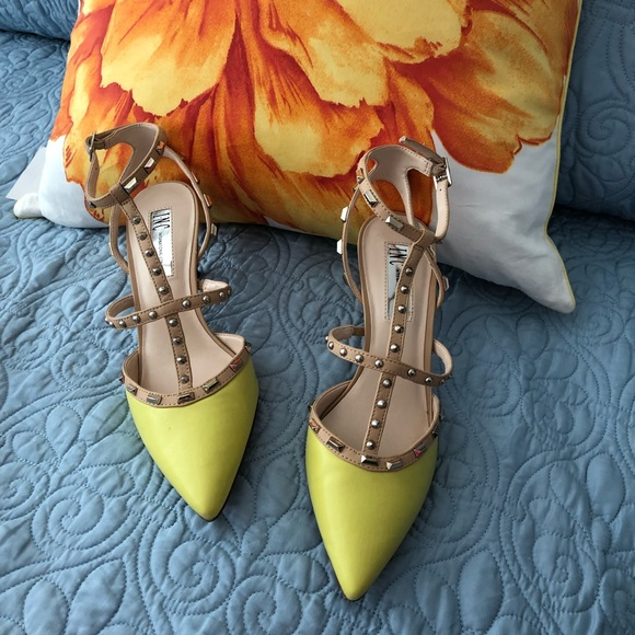 23bd2541569 INC International Concepts Shoes - INC Carma Pointed Toe Studded Kitten Heel  Pumps